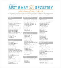 baby item checklist baby registry checklist template 16 free word excel pdf