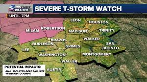 Severe Thunderstorm Watch for Milam ...
