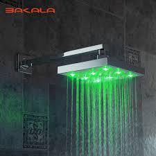 shower led lighting. FreeShipping BAKALA New LED Light Square Rain Shower Head Bathroom Column Without The Arm Led Lighting