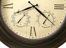 howard miller large 28 metal clock indoor outdoor 625464 copper harbor outdoor thermometer and clock outdoor