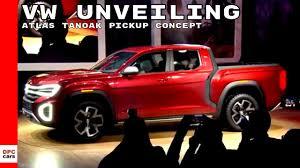 Volkswagen Atlas Tanoak Pickup Truck Concept - VW Unveiling - YouTube