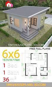 one bedroom house plans 6x6 with shed