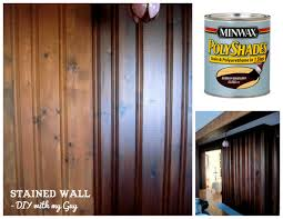 How to stain old wood paneling without sanding....could come in handy