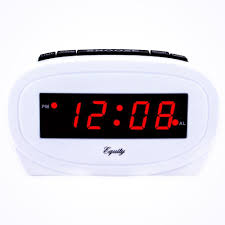 red led electric white alarm table clock