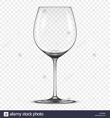 Glass Template Vector Realistic Empty Wine Glass Icon Isolated On