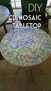 cd mosaic tabletop 30 stunning diy mosaic craft projects for easy home decor check out this easy tutorial