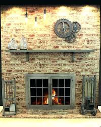 fireplace insert doors replacement awesome best glass ideas on throughout for