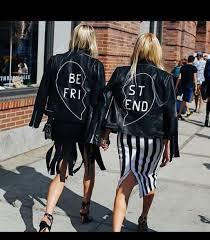 jacket fashion bestfriend leather black white best friend leather jacket