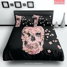 skull bed sets queen incredible the cherry blossom skulls cartoon bar fight reincarnate bedding skull bedding