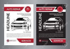 Auto Repair Flyer Set Auto Repair Business Layout Templates Automobile Magazine