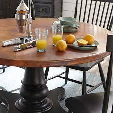 inspiring 54 inch round dining table of furniture america cooper rustic light oak pedestal