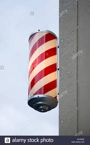 Barber Shop Candy Cane Light Barbers Pole Stock Photo 12482592 Alamy