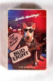 Bud Light Cards 2 Decks Bud Light Beer Spuds Mackenzie Dog Guitar Playing Cards One Unopened