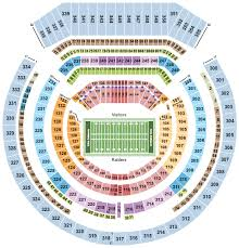 Oakland Raiders Seating Chart Buy Oakland Raiders Tickets Seating Charts For Events