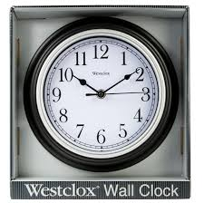 inch simplicity round wall clock black hover to zoom 1