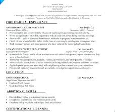 Police Officer Resume Samples Police Of Resume Example Inspirational