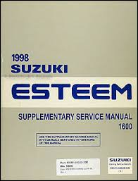 suzuki esteeme wiring diagram wiring diagrams and schematics 1998 2001 suzuki esteem wiring diagram manual original