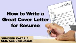 How To Write A Great Cover Letter For Resume Youtube