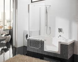 Black And White And Blue Bathroom Bathtub Shower Combination Bath Shower Combo Faucet