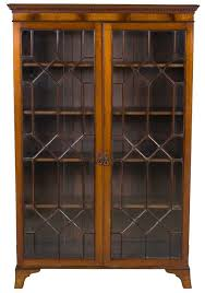 antique bookcase with doors english
