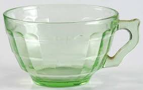 anchor hocking block optic green cup only