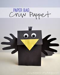 Crow Puppet Craft Puppet Crafts Paper Plate Crafts For