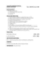 Resume For Carpenter | Nfcnbarroom.com