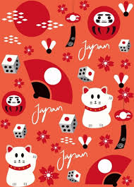 Traditional Symbols Japan Background Repeating Traditional Symbols Decor Free Vector In