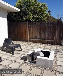 modern patio fire pit. Make It: A Modern DIY Outdoor Fire Pit (Plus Before \u0026 After) Patio M