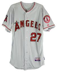 Of And 2012 Trout Angels Mike Year Detail Jersey Inscribed Cool Rookie Signed Base - The On-field Lot Road
