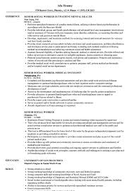 Senior Social Worker Resume Samples Velvet Jobs