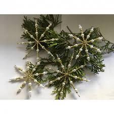 Weihnachtsdeko Sternen Set Weiß Gold Aus 4 Sternen