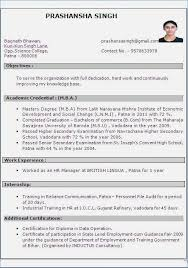 Resume Format For 1 Year Experienced Java Developer Resume