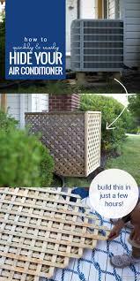 Lattice Air Conditioner Screen Remodelaholic Hide Your Ac Unit Diy Outdoor Air Conditioner