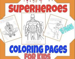 And especially for boys but all girls are welcome here with the open hands too of course. Spiderman Coloring Etsy