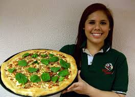 2 pizza gallerie woman showing pizza jpg