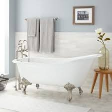 clawfoot tub fixtures. Image Is Loading Signature-Hardware-67-034-Colwyn-Cast-Iron-Slipper- Clawfoot Tub Fixtures