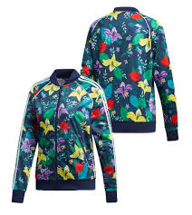 Adidas Clothing Size Chart Us Details About New Adidas 2019 Sst Graphic Multicolor Hoodie Flower Track Floral Jacket Ed6584