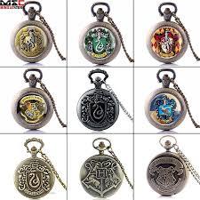 details about vintage harry potter pocket watch necklace chain quartz watch pendant retro gift