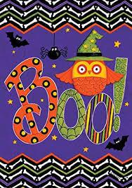 Custom Decor Inc Designables Best Amazon OWL BOO Double Sided Vinyl Garden Sign Custom