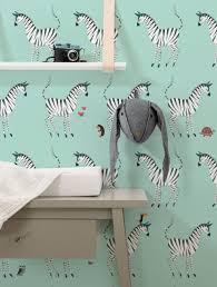 Wallpaper For Kids Zebra Mint 974 X 280 Cm Kek Amsterdam