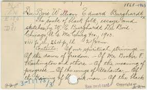 file this under nostalgia new book pays tribute to the library the library of congress card for w e b du bois the souls of black folk essays and sketches