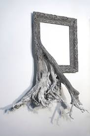 new fusion frames by darryl fuse gnarled tree roots with ornate picture frames