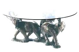 elephant tusk coffee table t tusk coffee table glass bronze 3 ts dining with top coffee