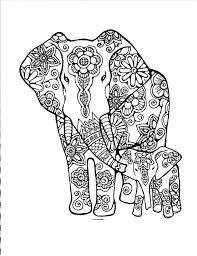 â american hippie art coloring zentangle tattoo idea of aztec elephant hand drawing detail colouring in coloring pages
