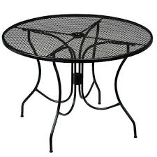 metal patio furniture round metal outdoor dining table vintage style metal patio furniture