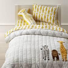 organic safari giraffe toddler sheet
