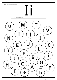 English alphabet coloring pages with words. Letter I Worksheets Flash Cards Coloring Pages