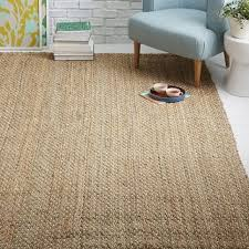 dotted jute rug natural ivory