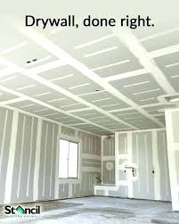 cost per square foot to mud and tape drywall of